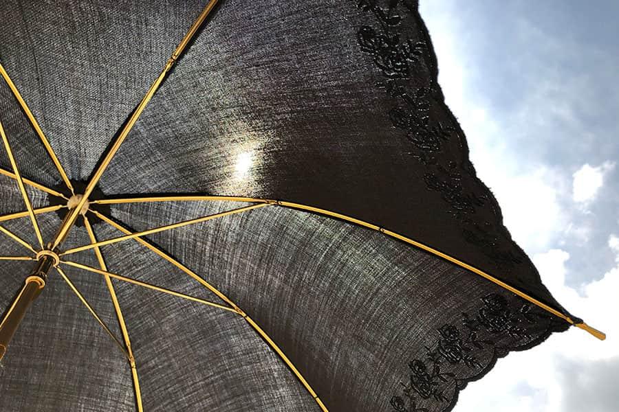 婦人用日傘の遮光効果