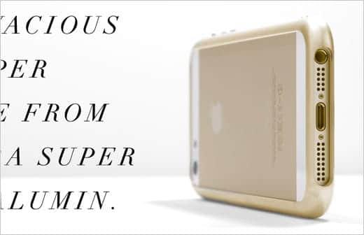 SQUAIR iPhone用ジェラルミンバンパー ゴールド