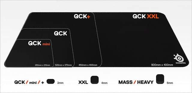 SteesSeries QcK マウスパッドシリーズ