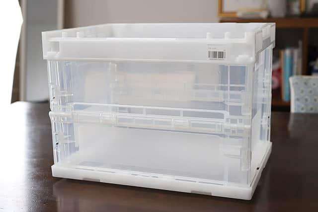 おすすめの収納ボックス『折りたたみコンテナ』レビュー。安くてガッチリ!透明で分かりやすい!