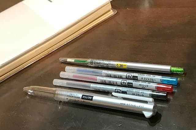 スタイルフィットのボールペンとリフィル