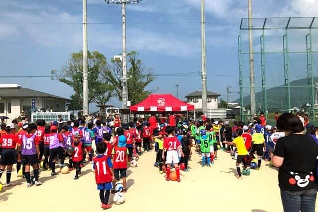 ロアッソ熊本のサッカー教室