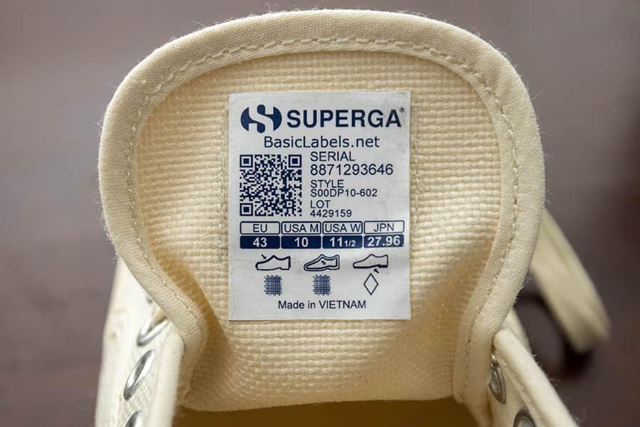 Superga 2390 商品タグ