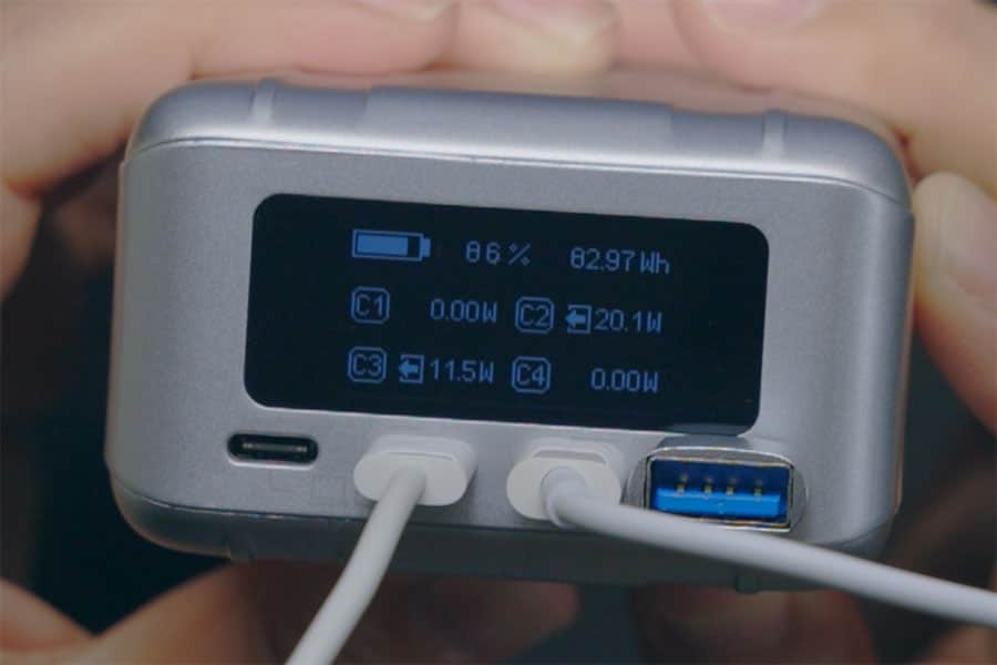 iPad ProとiPhone 12 miniを同時充電した時の出力W数