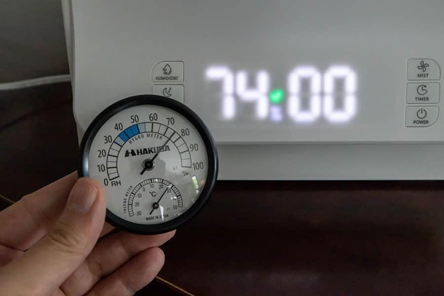 湿度のセンサーも問題なし