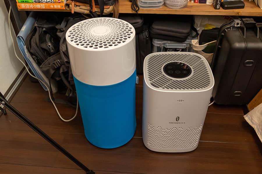 Blue Pure 411とTT-AP006の大きさ比較