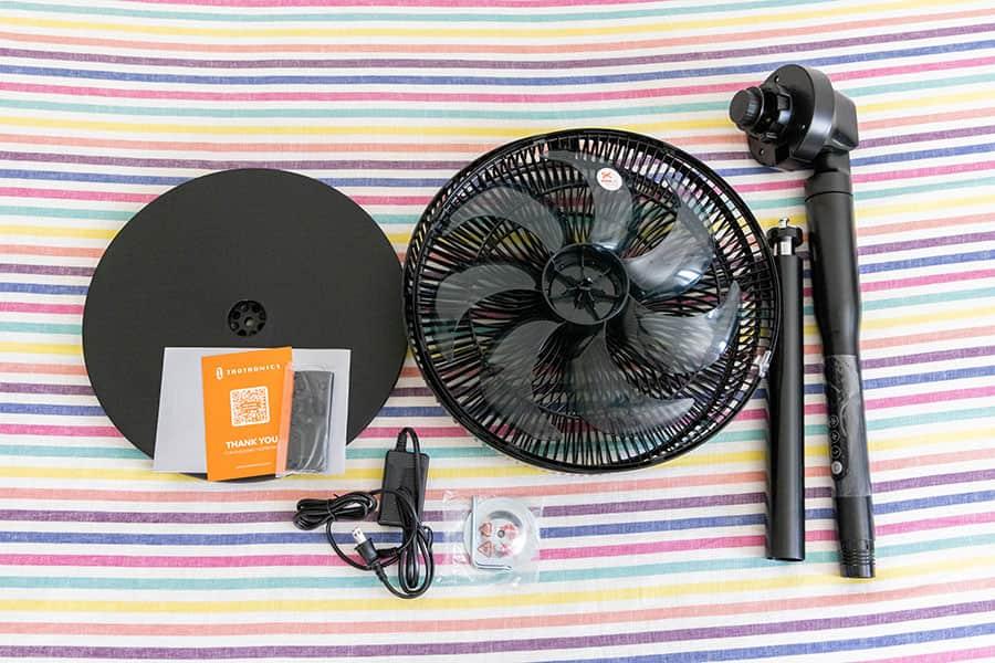 DCモーター扇風機「TT-TF009」の同梱物一覧