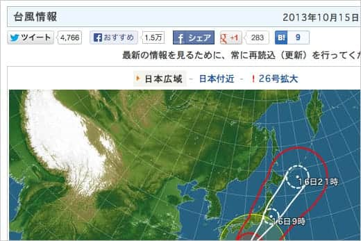 日本気象協会 台風情報