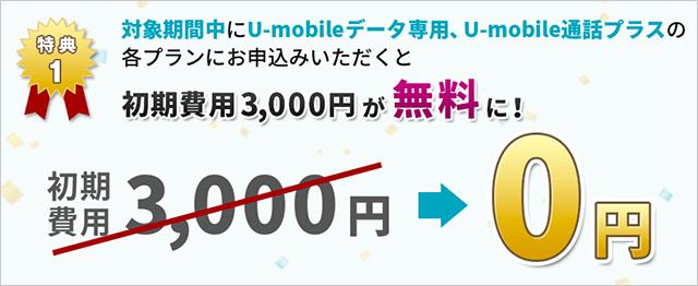 初期費用3,000円が無料に!