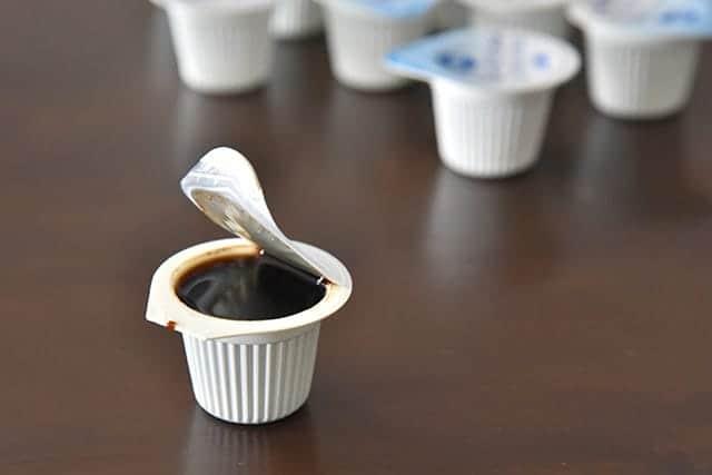 ポーションに満タンのコーヒー