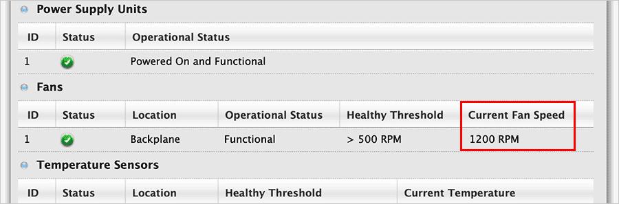 Pegasus3 R4のファンの回転数が1200RPMまで下がった!