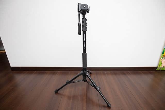 狭いスペースで動画撮影するときに便利な撮影機材『Velbon スタンド一脚』購入レビュー