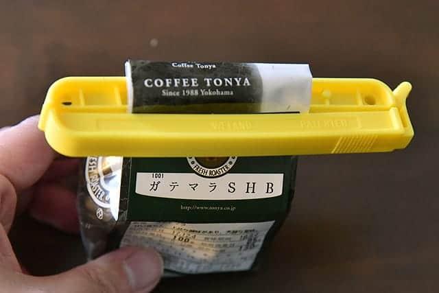 ウェーロック社のクリップイットとコーヒー豆