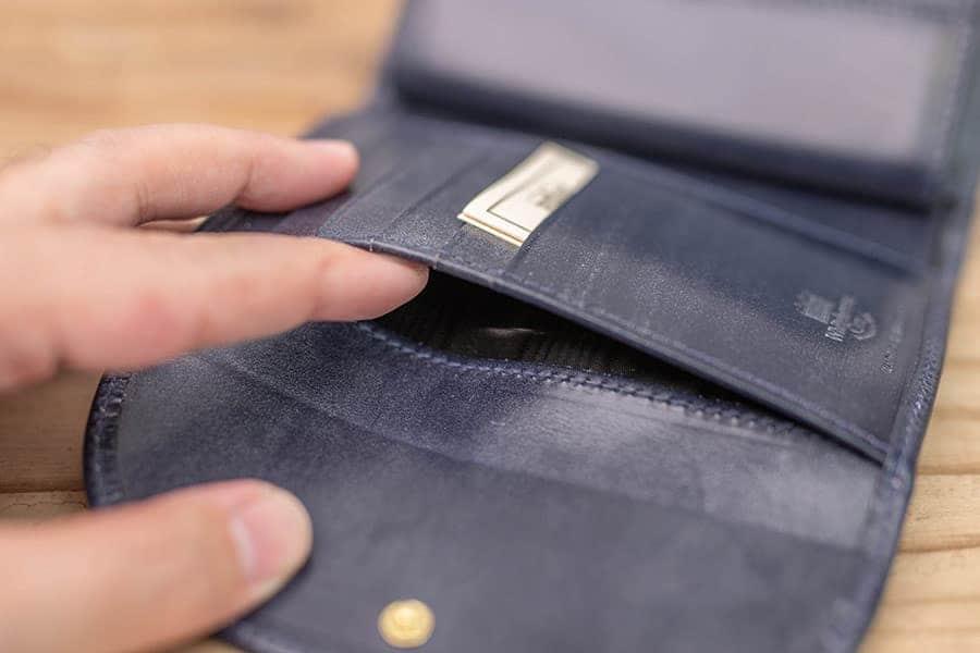 5つのカードポケット下のポケット