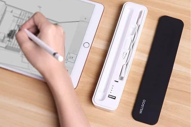 Apple Pencilとパーツをまとめて収納!モバイルバッテリー内蔵で10回充電できる専用キャリングケース