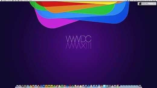 WWDC2013ロゴをデスクトップの壁紙に設定