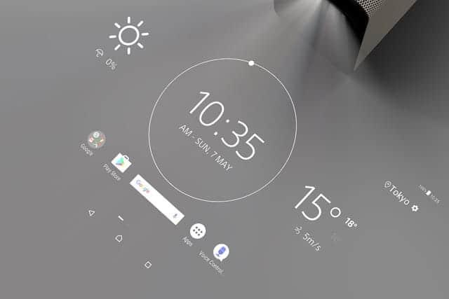 写した画面を指でタッチ操作できる未来のプロジェクター『Xperia Touch(エクスペリア タッチ)』