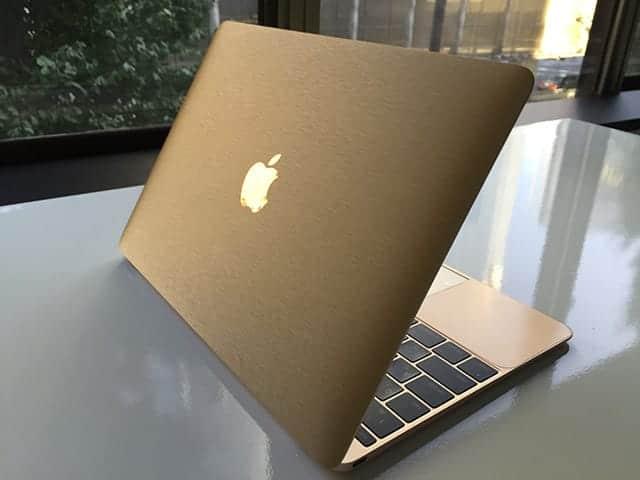 山田商店 MacBookラッピング シャンパンゴールド