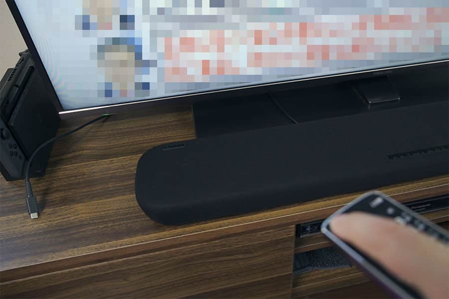 リモコンでテレビの電源オンするとテレビが点くのと同じタイミングで音が出る!