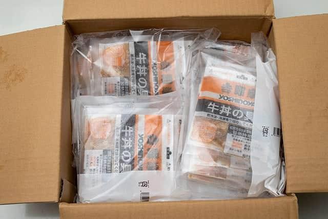 4袋が1セットで7個、合計28袋が入ってます